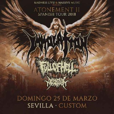 Concierto: Immolation en Custom Sevilla 2018