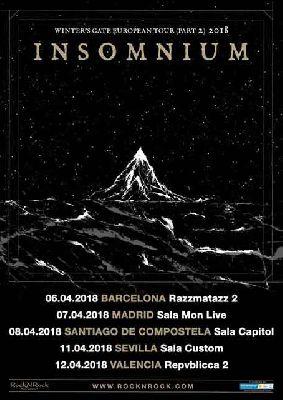 Concierto: Insomnium en Custom Sevilla 2018