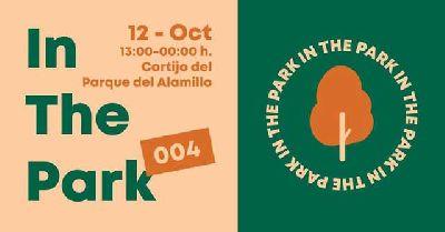 Cartel de In the park en el parque del Alamillo de Sevilla (octubre 2019)