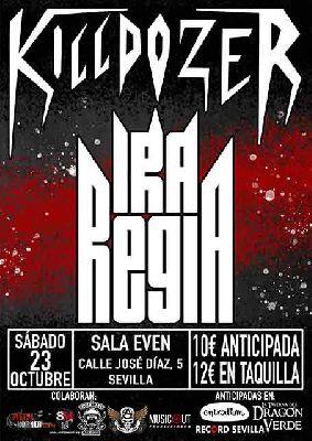 Cartel del concierto de Ira Regia y Killdozeren la Sala Even Sevilla 2021