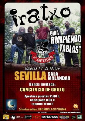 Concierto: Iratxo, gira Rompiendo Tablas en Malandar Sevilla