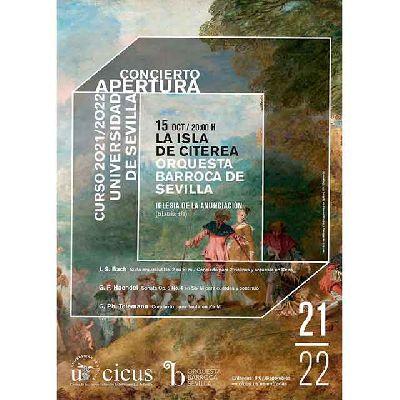 Cartel del concierto La Isla de Citerea en la iglesia de la Anunciación de Sevilla