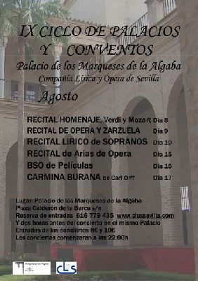 IX ciclo de Música en Palacios y Conventos Sevilla (agosto 2013)