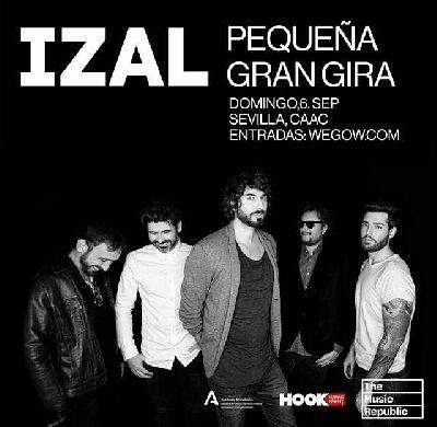 Cartel del concierto en Sevilla de la Pequeña Gran Gira 2020 de Izal