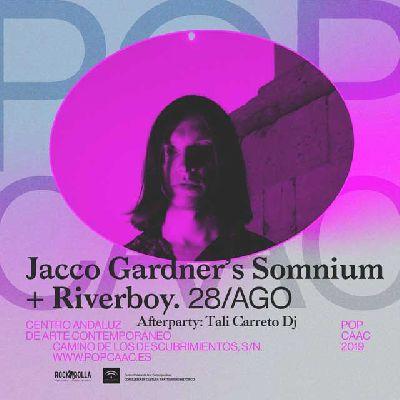 Cartel del concierto de Jacco Gardner's Somnium y Riverboy en Pop CAAC Sevilla 2019