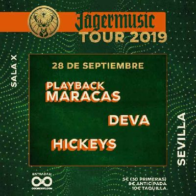 Cartel del concierto de Jägermusic Tour 2019 en la Sala X de Sevilla