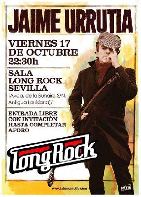 Concierto: Jaime Urrutia en sala Long Rock Sevilla
