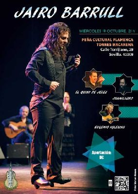 Flamenco: Jairo Barrull en la Peña Flamenca Torres Macarena de Sevilla