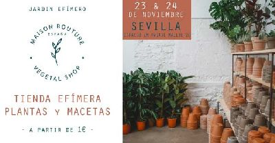 Cartel del jardín efímero de Maison Bouture en el Espacio ZM de Sevilla 2019