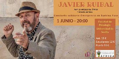 Cartel del concierto Javier Ruibal por la música en África