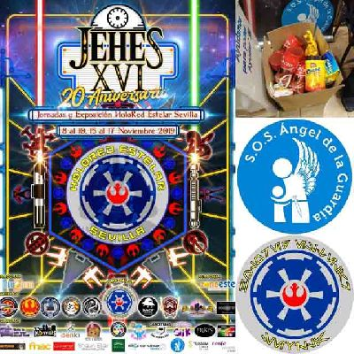 Cartel del encuentro XVI JEHES, Jornadas y Exposición HoloRed Estelar Sevilla 2019