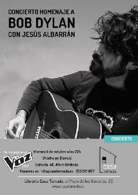 Cartel del concierto Homenaje a Bob Dylan en la Casa Tomada de Sevilla 2019