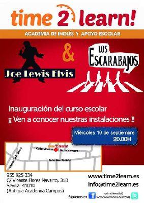 Concierto: Joe Lewis Elvis y The Escarabajos en Time2Learn! Sevilla