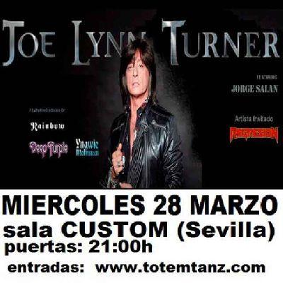 Concierto: Joe Lynn Turner en Custom Sevilla 2018