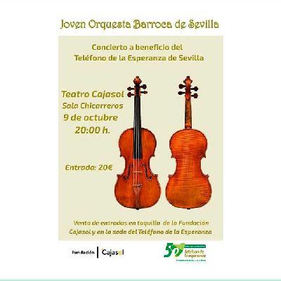 Cartel del concierto de la Joven Orquesta Barroca de Sevilla en Cajasol Sevilla 2021