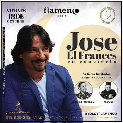 Cartel de la actuación de José el Francés en la Sala Flamenco de Sevilla 2019