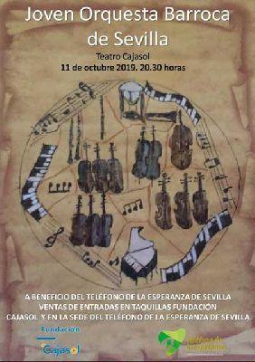Cartel del concierto de la Joven Orquesta Barroca de Sevilla en Cajasol Sevilla 2019