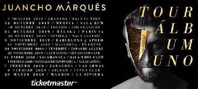 Cartel de la gira del disco Álbum uno de Juancho Marqués