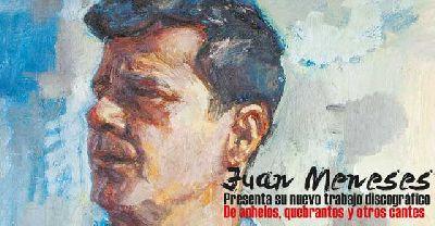 Cartel de Juan Meneses presenta De anhelos, quebrantos y otros cantes