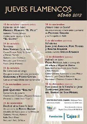 Flamenco: Los Jueves Flamencos de Cajasol otoño 2013