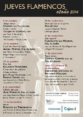 Flamenco: Los Jueves Flamencos de Cajasol otoño 2014