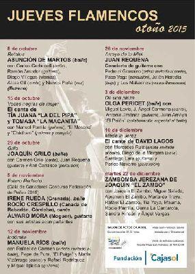 Flamenco: Los Jueves Flamencos de Cajasol Sevilla (otoño 2015)