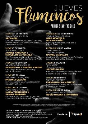 Cartel de Los Jueves Flamencos de Cajasol en Sevilla primavera 2019