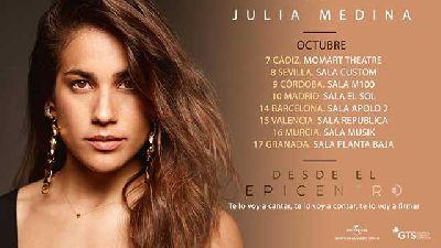 Cartel de la gira Desde el Epicentro de Julia Medina