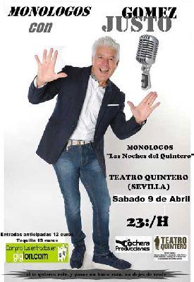 Humor: Justo Gómez en el Teatro Quintero de Sevilla (abril 2016)