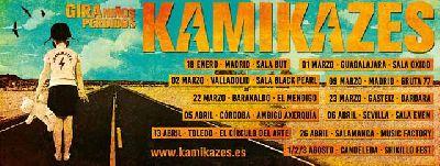 Cartel de la gira Niños perdidos 2019 del grupo Kamikazes