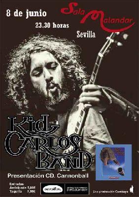 Concierto: Kid Carlos Band en Malandar Sevilla 2018