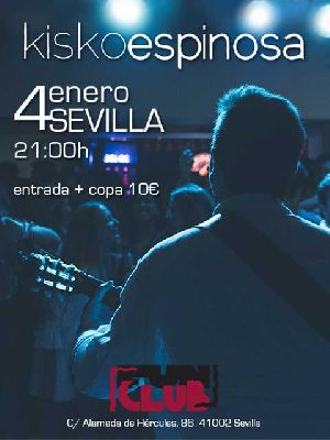 Cartel del concierto de Kisko Espinosa en FunClub Sevilla 2019