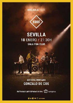 Cartel del concierto de Koel y Gonzalo de Cos en FunClub Sevilla 2019