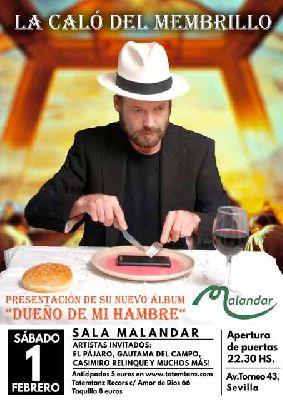 Cartel del concierto de La caló del membrillo en Malandar Sevilla 2020