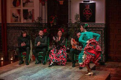 Foto promocional de un espectáculo en La Casa del Flamenco de Sevilla