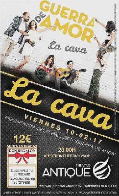 Concierto: La Cava presenta Guerra de amor en Antique Sevilla