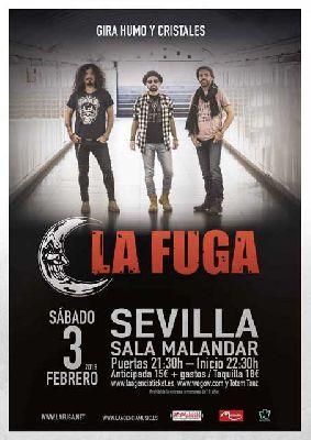 Concierto: La Fuga en Malandar Sevilla (febrero 2018)
