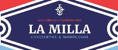 Cartel del ciclo La Milla en el puerto de Sevilla 2020