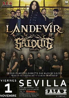 Cartel del concierto de Landevir y Salduie en la Sala X de Sevilla 2019