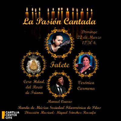 Cartel de La Pasión cantada en el Cartuja Center de Sevilla 2020