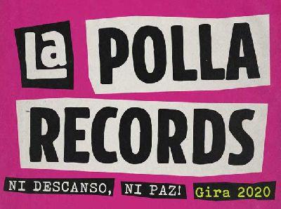 Cartel de la gira Ni descanso, ni paz 2020 de La Polla Records