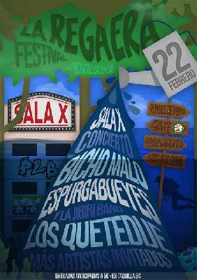 Cartel del concierto de La Regaera Festival en la Sala X de Sevilla