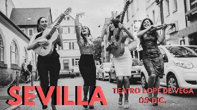 Cartel del concierto del grupo Las Migas en el Teatro Lope de Vega de Sevilla 2019