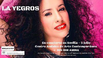 Cartel del concierto de La Yegros en Pop CAAC Sevilla 2019