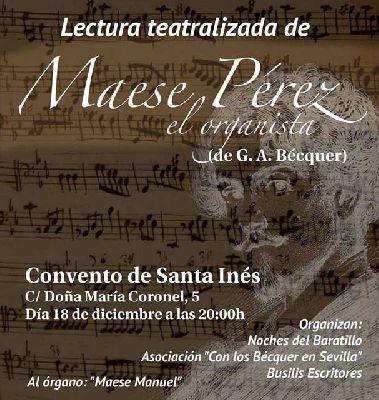 Lectura teatralizada de Maese Pérez en Santa Inés de Sevilla 2015