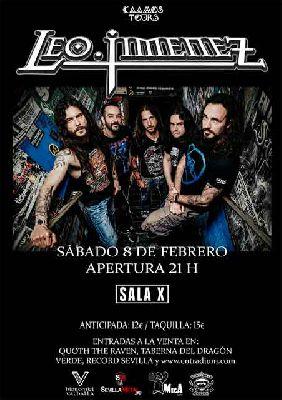 Cartel del concierto de Leo Jiménez en la Sala X de Sevilla 2020