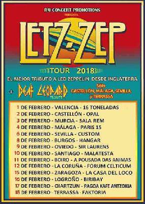 Concierto: Letz Zep (tributo a Led Zeppelin) en Custom Sevilla 2018