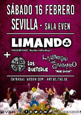 Cartel del concierto de Limando en la Sala Even Sevilla 2019
