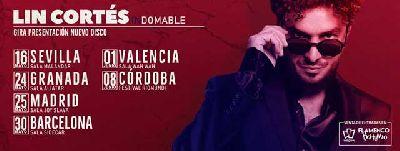 Cartel del concierto de Lin Cortés de la gira indomable 2019
