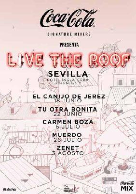 Cartel del ciclo Live the Roof en Sevilla 2019